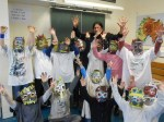 César Chavez et les enfants de l'école de Menet