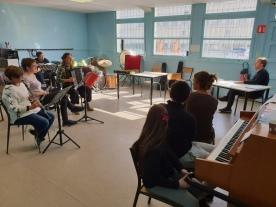 Johan Farjot à l'école de musique La Fraternelle
